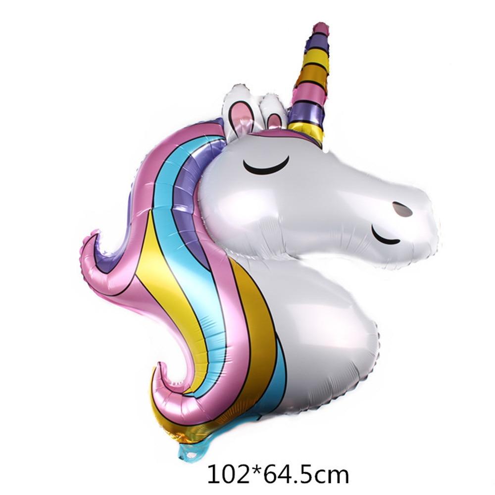 Cartoon Hat 1PCS Unicorn Shark Balloons Giant Inflatable Rainbow Animal Balloon Kids Baby Shower Toys  Birthday Party