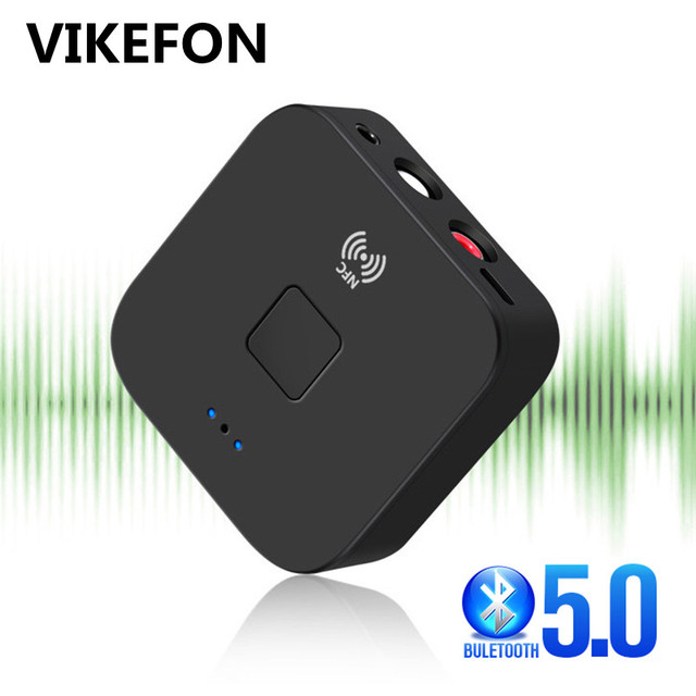 Bluetoothレシーバー5.0 nfc 3.5ミリメートルジャックrca auxステレオ音楽ワイヤレスアダプタ自動オン/オフbluetooth 5.0 4.2オーディオレシーバー