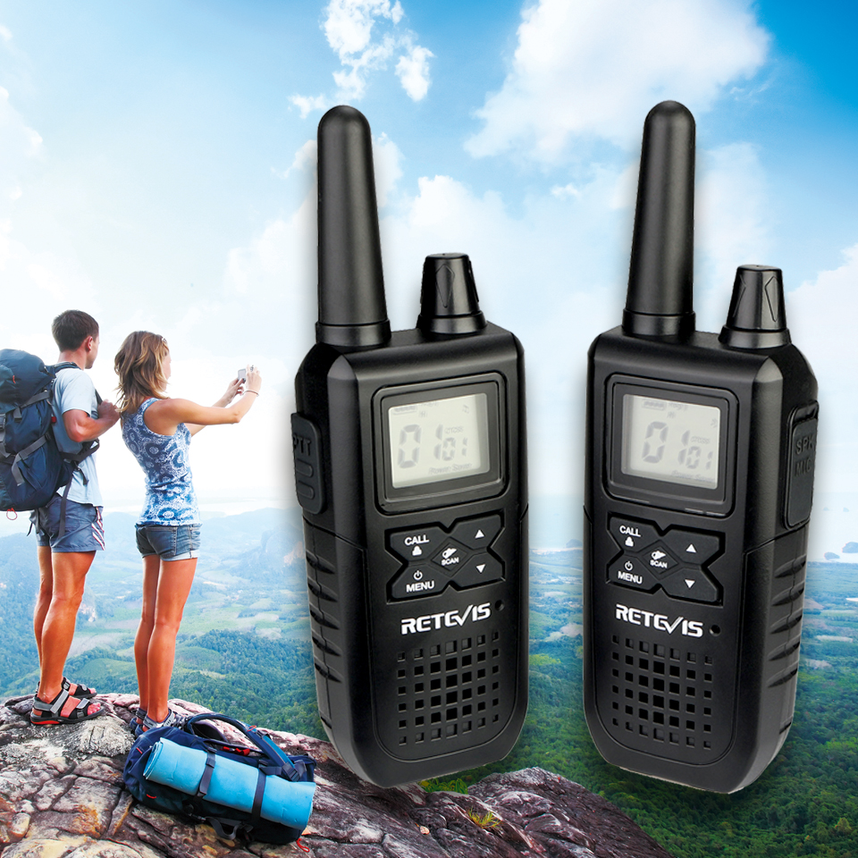 Retevis RT41 Handheld Emergency Mini Walkie Talkie 2pcs VOX Scan Family Use FRS Two Way Radio NOAA Weather Alert Transceiver