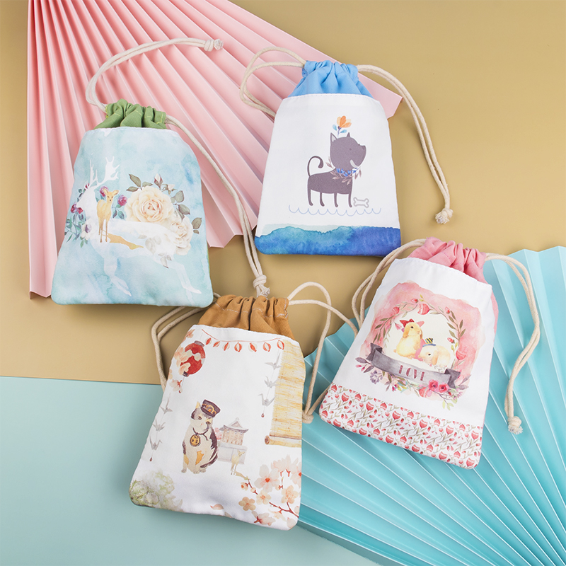 Drawstring Tote 2020 Brand New Mobile Phone Purse Female Cute Ins Style Simple Student Handbag Power Bank Storage Bag