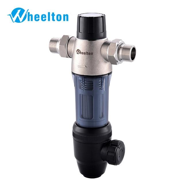 Wheelton Rvs 304 Hoofd Pre Filter Water Filter Opgewaardeerd Backwash Huis Water Gezuiverd Verwijderen Roest Sediment Gratis Schip