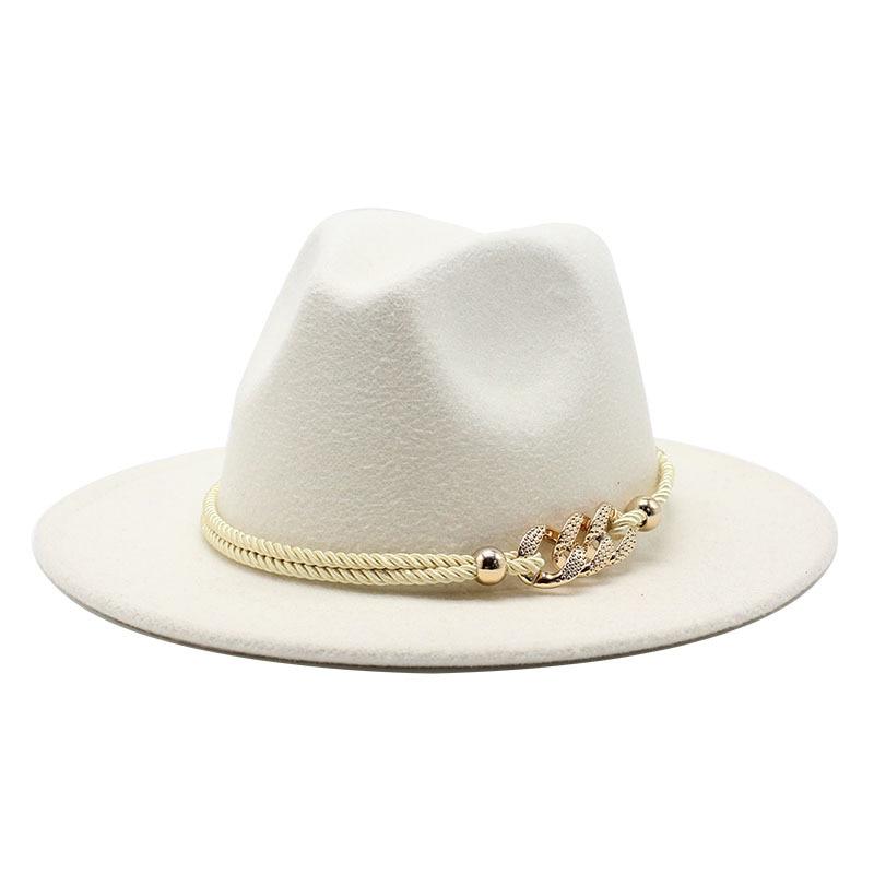 Черная/белая шляпа с широкополыми полями, простая шляпа в стиле Дерби, Панама, фетровая шляпа для мужчин и женщин, искусственная смесь шерсти, джаз Кепка|Женские фетровые шляпы|   | АлиЭкспресс