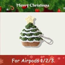 Милый чехол для наушников с рисунком рождественской елки apple
