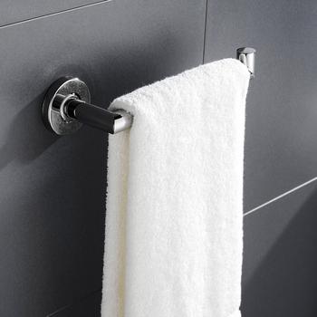 Polski wieszak na ręczniki wieszak na ręczniki do montażu na ścianie pojedynczy pręt wieszak na ręczniki wieszak na ręczniki wieszak na łazienka Home Hotel tanie i dobre opinie NoEnName_Null STAINLESS STEEL BA0004TBC Pierścienie ręcznik Chrome Bathroom Shower Room Restroom Kitchen Bathroom Accessories