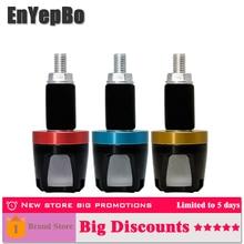 EnYepBo 1 pair Universal LED Handlebar Motorcycle Yellow Turn Signal Light blue red marker light