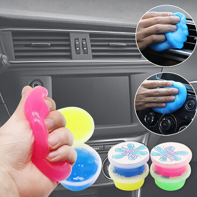 Multifunction Car Super Clean Mud Keyboard Cleaning Air Conditioner Vent Magic Soft Sticky Clean Glue Slime Dust Dirt Cleaner