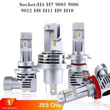 2 pces 55w 15000lm h7 led h1 h4 led h11 h8 9005 9006 h9 hb3 hb4 canbus farol lâmpada do carro zes 6500k auto lâmpada nenhum ruído de rádio