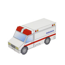 Ambulance Car Mini Vehicle Folding Cutting Handmade 3D Paper Model DIY Papercraft Kids Adult Origami Craft Toys ZX-091(China)