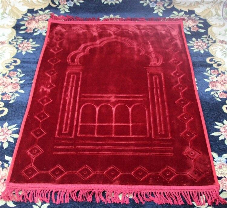 Hot Sale Large Thicken New Design Unique MashaAllah Travelling Islamic Muslim Prayer Mat/ Rug/ Carpet Salat Musallah 80*125cm