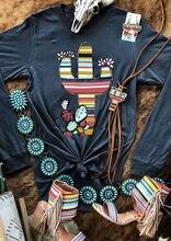 Cactus imprimé fleuri haut femmes 2019 nouveau T-shirt col rond mode à manches longues T-shirt Femme automne hiver hauts T-shirt haut femme
