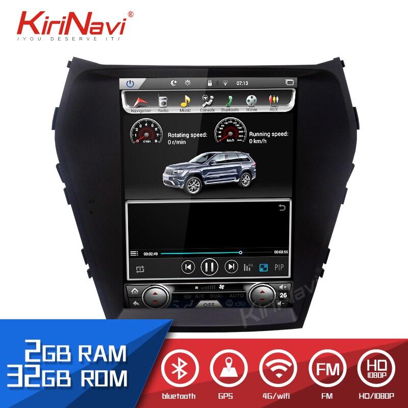 KiriNavi Android 8.1 Car Radio Gps Navigation For Hyundai IX45 Santa Fe Android Dvd Player Car Multimedia Gps 2016 + 10.4'' WIFI