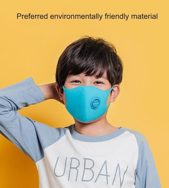 In stock SmartMi Children's mask PM2.5 Haze Mask Anti-haze Face Mask Adjustable Ear Hanging 3D Design Comfortable Light for kids 4