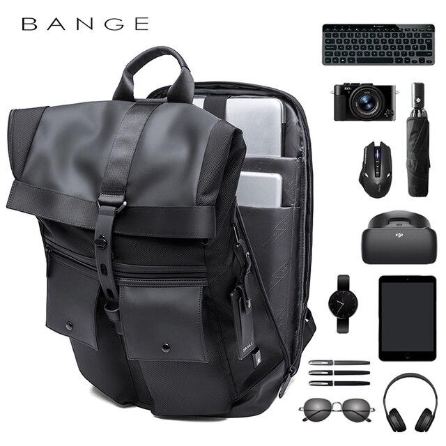 Bange Men Fashion Backpack Multifunctional Waterproof Backpack Daily Travel Bag Casual School Rucksack 2