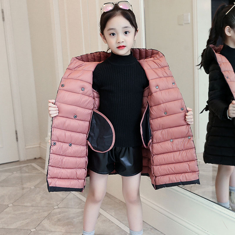 Winter Down Jacket for Girls Clothes parka real Fur Hooded Russian Winter Coat 2019 New Children Outerwear Long Teenage clothing