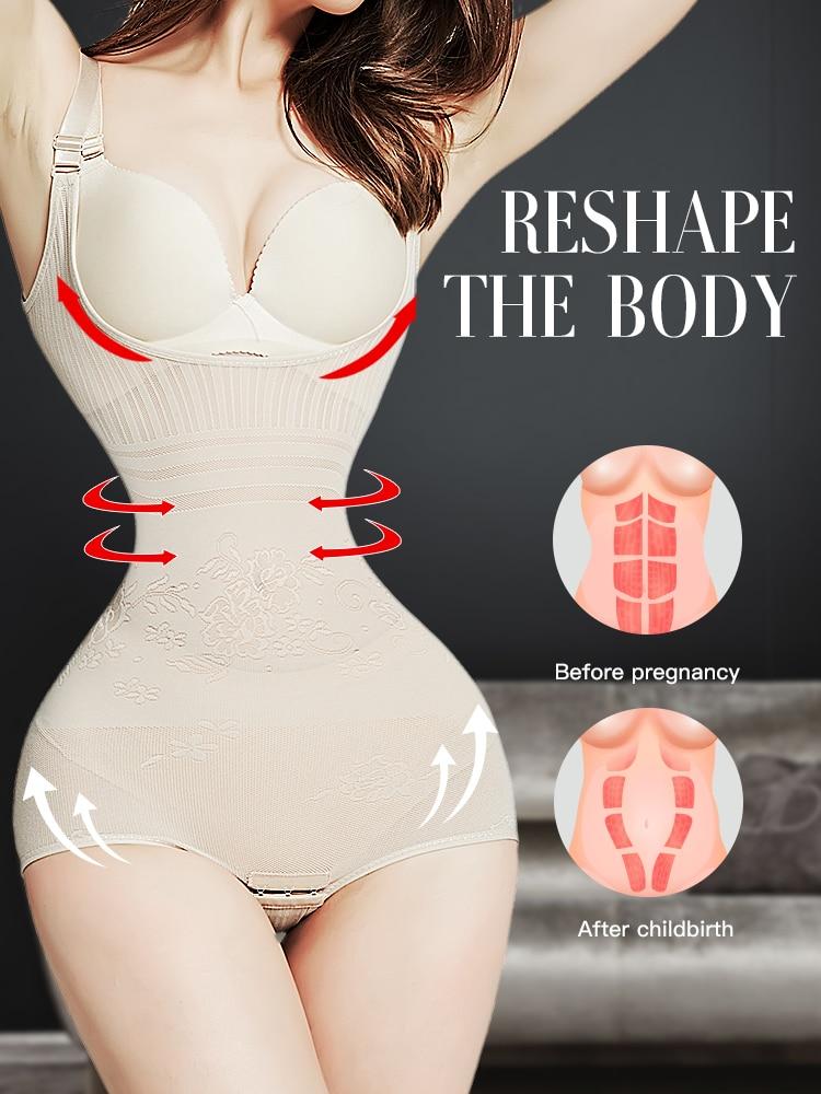 slimming belt tummy shaper corrective underwear waist trainer binders body shapers shapewear butt lifter reductive strip woman(China)