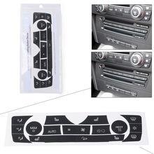 Coche/C/botones de Control de aire acondicionado calcomanías juego de reparación para BMW E90 E91 E92 330I 2006, 2007, 2008, 2009, 2010, 2011