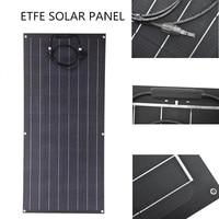 SOLARPARTS 100Watts Monocrystalline Flexible Solar Panel 12V ETFE Solar Module for Motorhomes