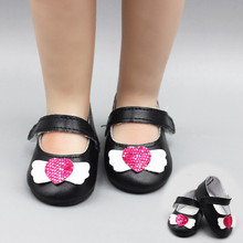 New Fashion Doll Shoes for 18 inch Generation American White Pink Black 43cm Baby Born Free Shipping