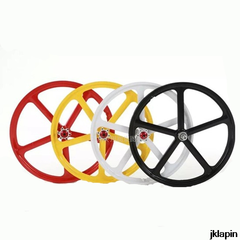 20inch Folding Bike Magnesium Alloy Bicycle <font><b>Wheel</b></font> Set Sealed Bearing Disc Brake Women's Child Bike Wheelset One-piece Hub <font><b>BMX</b></font> image