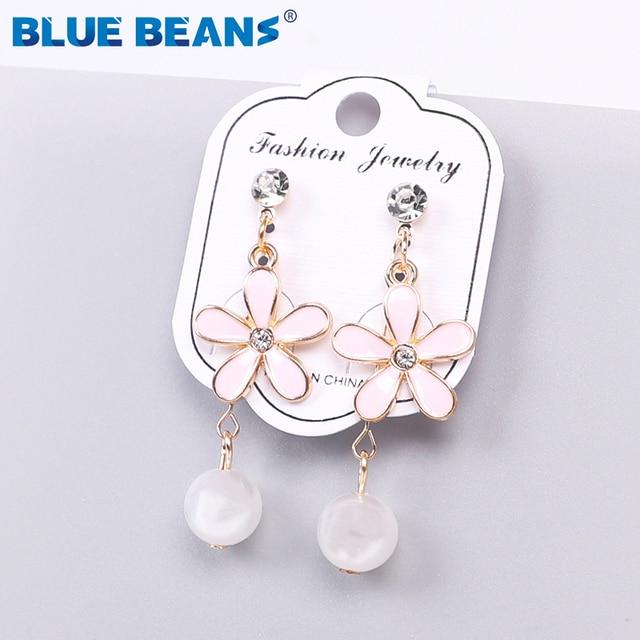 2020 Pearl  Earings for Women Drop Black Earrings Jewelry Fashion Small Earrings High Quality  Earing Pendientes New Women 1