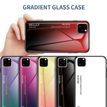 Case For iPhone 11 2019 Gradient Painted Tempered Glass Cover XI R MAX 5.8 6.1 6.5