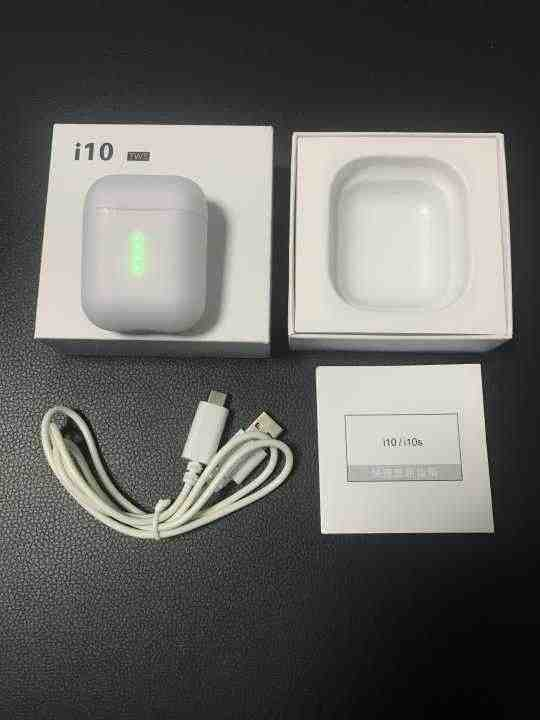 I10 TWS i10s 1:1 Original หูฟังบลูทูธไร้สายบลูทูธ 5.0 หูฟัง TOUCH Control สำหรับโทรศัพท์มือถือสมาร์ทโฟน Android iPhone