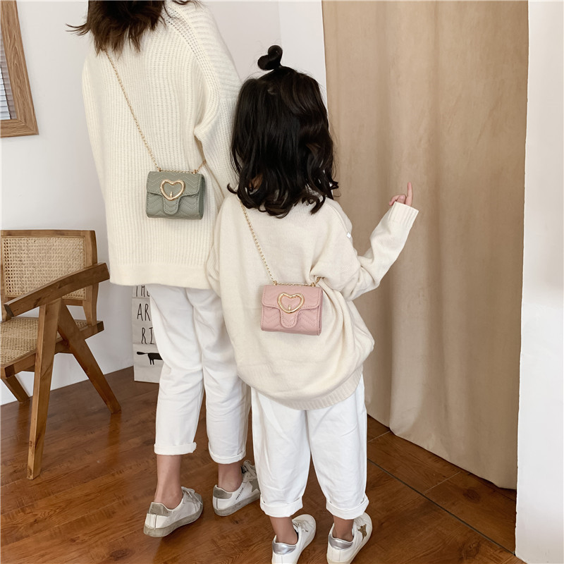 Korean-style You Er Bao 2019 Winter New Style Versitile Fashion Square Sling Bag Girls Trim Package CHILDREN'S Clothing Store Su