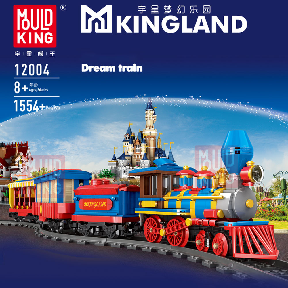MOULD KING Train Series Building Block Steam Electric Train With Light Train Bricks For Toys Kids Toys Christmas Gifts