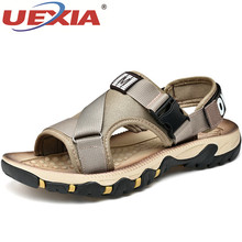 Men's Beach Sandals New Summer Hollow Breathable Gladiator O