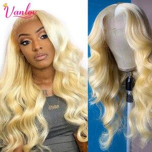 Vanlov Blonde Body Wave wig 613 Lace Front Human Hair Wigs For Black Women Brazilian 13x4 Lace Wigs Remy Wigs 150% Density Wigs