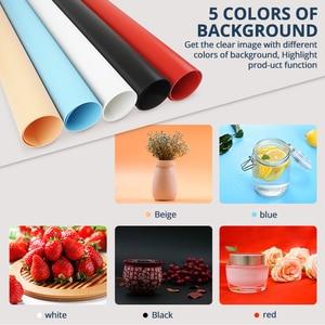 Image 2 - Travor F40A 디 밍이 가능한 접는 사진 상자 40*40 cm LED 라이트 박스 사진 스튜디오 탁상 촬영 사진 상자 5 색 배경