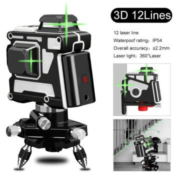 цена на Laser Level 12 Lines 3D Self-Leveling 360 Horizontal And Vertical Cross Super Powerful Green Laser Beam Line