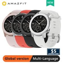 Глобальная версия Xiaomi Amazfit GTR умные часы gps 42 мм 5 АТМ водонепроницаемые 24 дня батарея gps умные часы женские умные часы Android