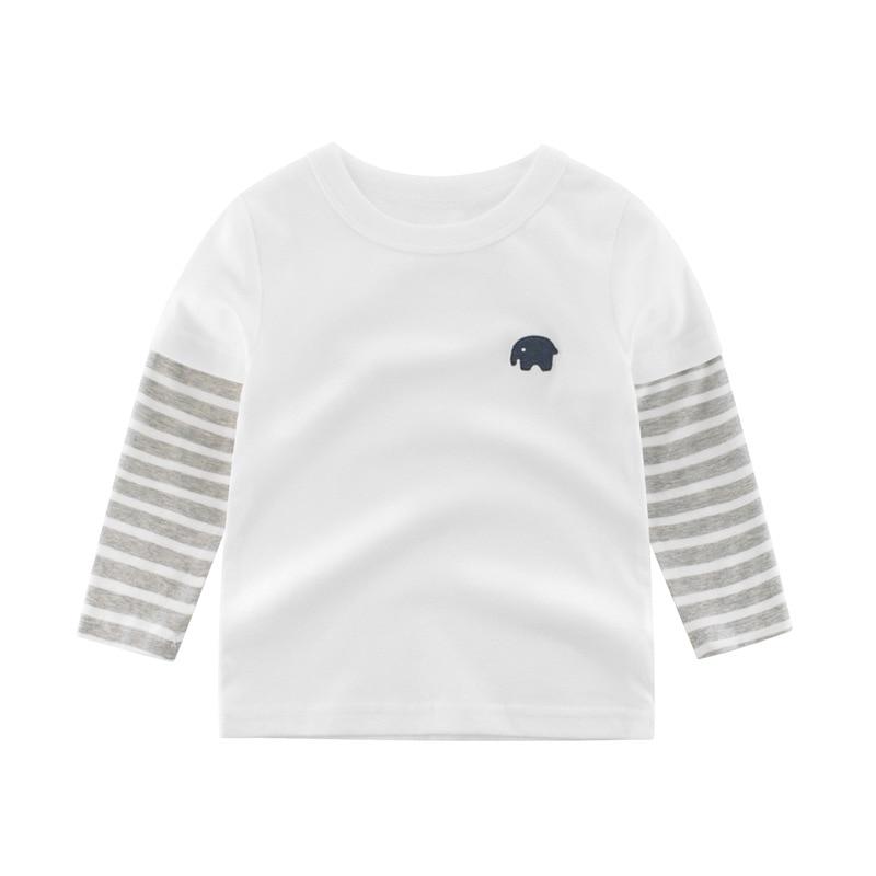 2020 Children Boys Girls Clothes T-shirt Cotton Long Sleeve Elephant Cartoon Tees Tops Kids Baby Boys Bottoming Shirts 27 Kids 2