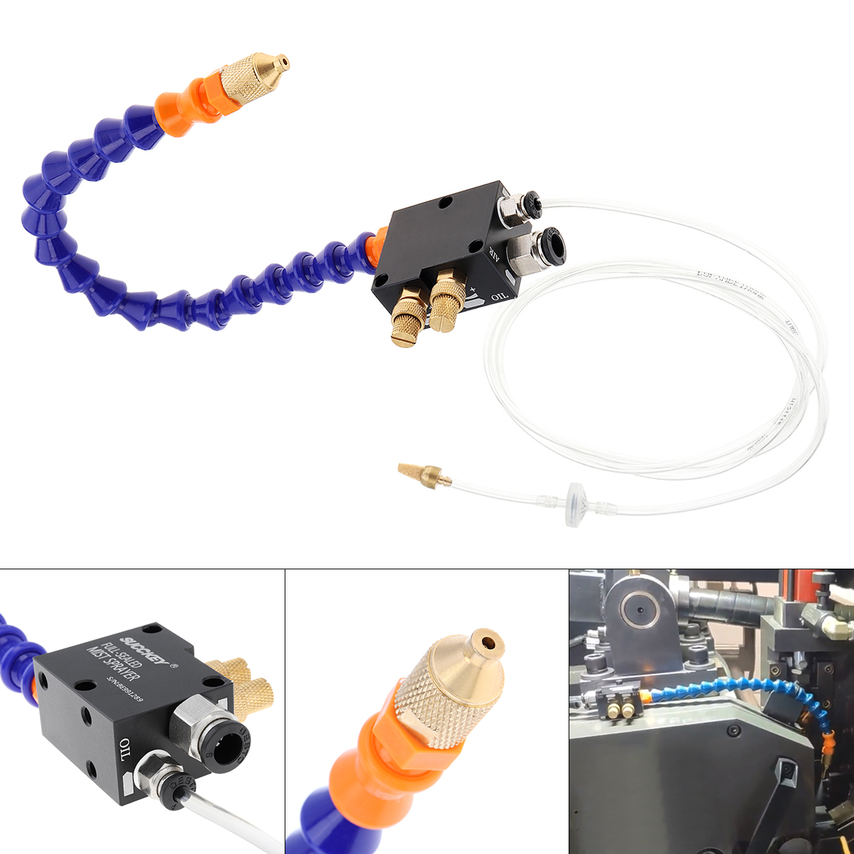 30cm Mist Coolant Lubrication Spray System With 0.6mm Inner Diameter Micro Nozzle And Fully Sealed Plastic Tube