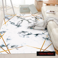 Area Rug Marble Golden Geometric Lines Marbling Living Room Bedroom Floor Rug Carpet Parlor Tapete Non Slip Floor Mat HTQ99