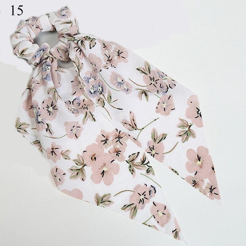 Bohème grande fleur chouchous longs banderoles arc cheveux écharpe femmes filles doux cheveux corde cravates mode cheveux accessoires chapeaux 33