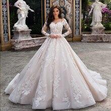 جوليا كوي فستان زفاف رائع خط مع كم كامل زر إغلاق حزام وردي