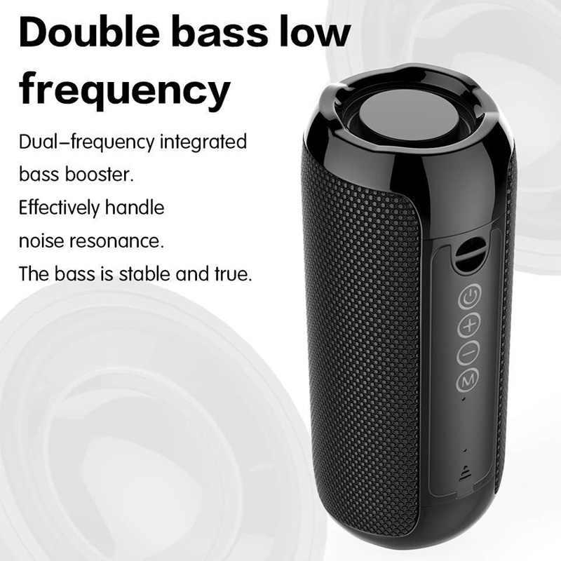 Portabel Bluetooth Speaker 20 W Nirkabel Bass Kolom Tahan Air Luar Ruangan Speaker Mendukung AUX Tf Usb Subwoofer Stereo Loudspeaker