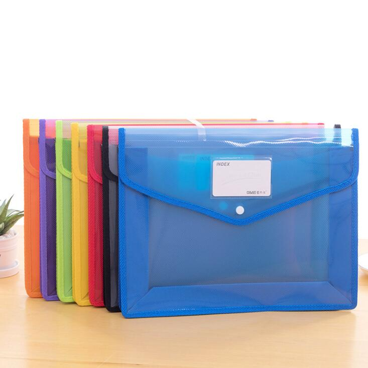 2020 Transparent Big Capacity A4 File Folder Business Briefcase Document Paper Storage Bag Desktop Organizer Stationery