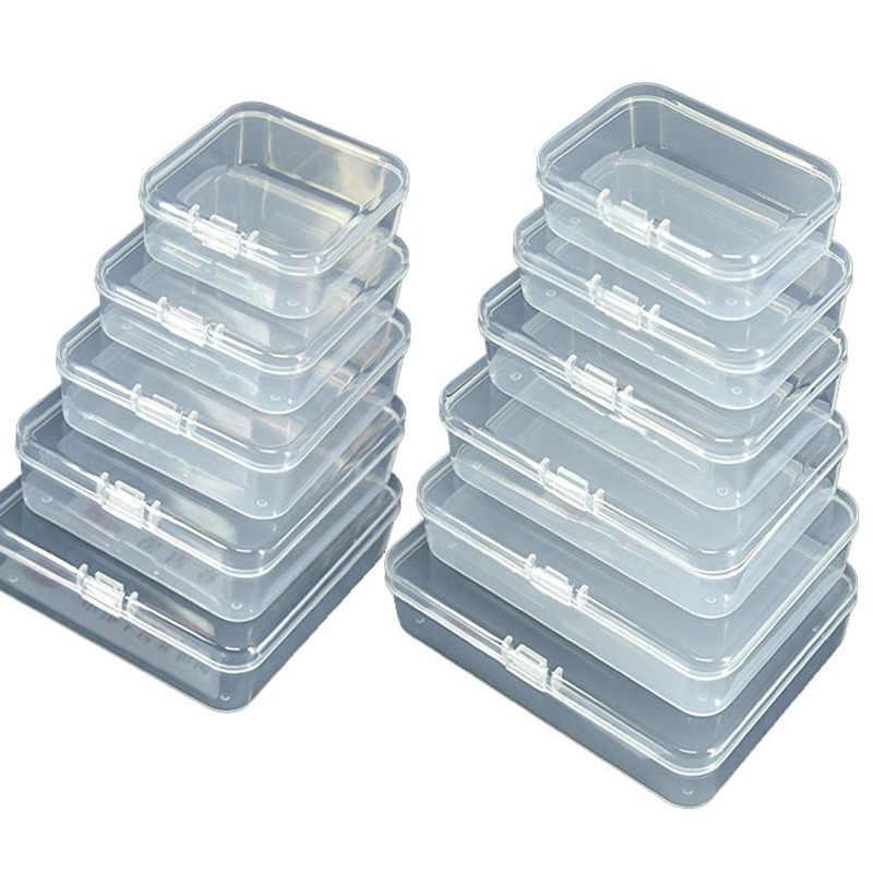 4 Maten Clear Lidded Kleine Plastic Doos Voor Kleinigheden Onderdelen Gereedschap Opbergdoos Sieraden Display Box Schroef Case Kralen Container nieuwe