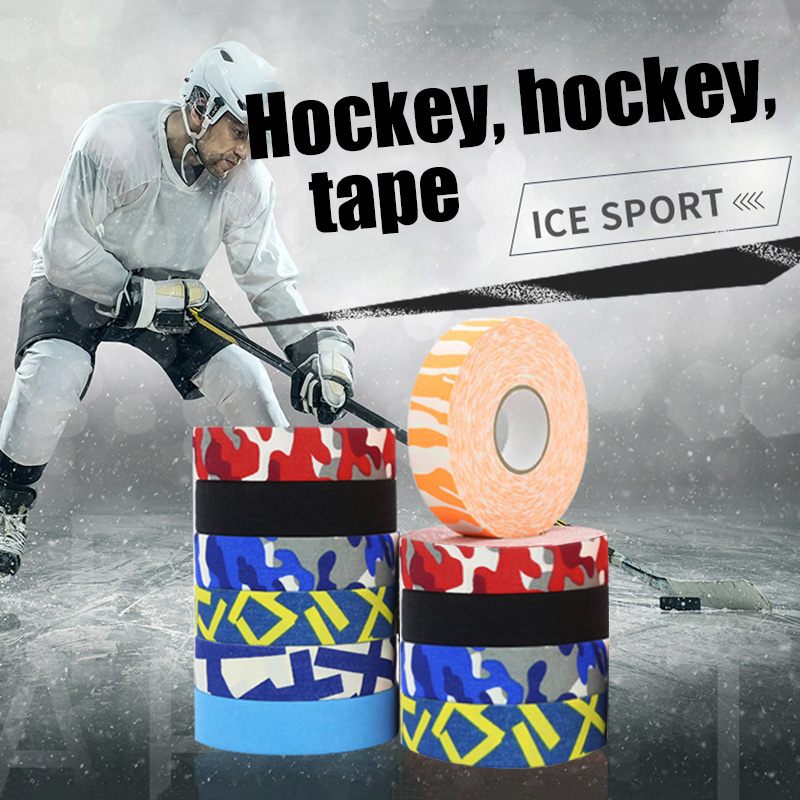 1PCS Hockey Grip Tape Non-slip Stick Handle Baseball Bats Colorful Sticky Wrap 2.5cmx25m Wear Resistant Protection Tape