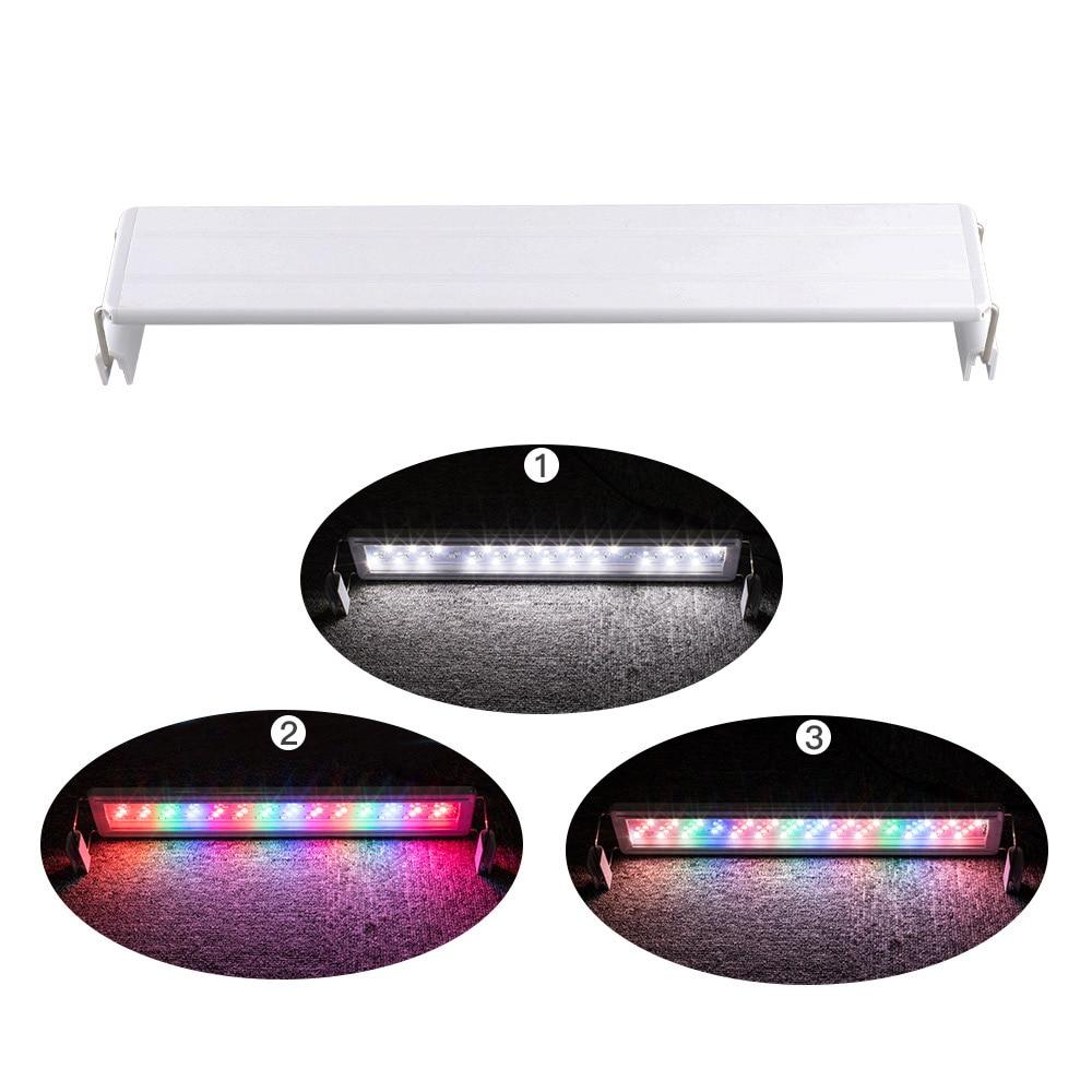 20/30/40/50cm LED Light Fish Tank LED Light Slim Luminaire Light Lamp Adjustable Change Color Light With EU Plug For Aquarium