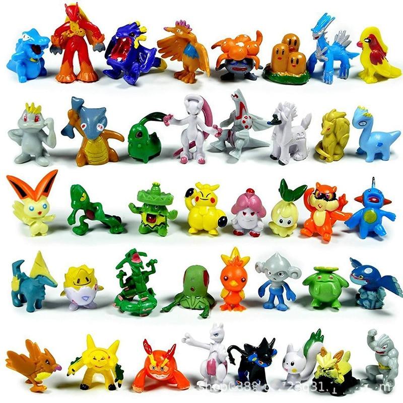 2-4cm 24/144 pçs takara tomy pokemon figura de ação brinquedos mini figuras modelo de brinquedo pikachu anime crianças boneca presentes de aniversário