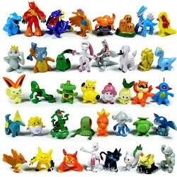 2-4cm 24/144 sztuk Takara Tomy Pokemon zabawki figurki akcji Mini figurki zabawkowy Model Pikachu Anime lalka dla dzieci prezenty urodzinowe