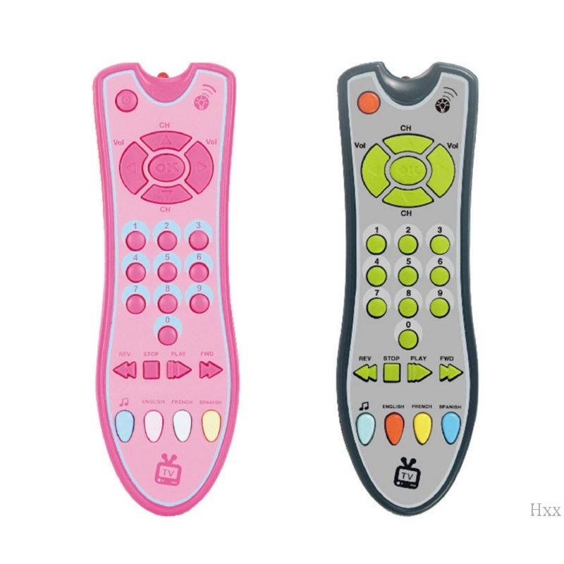 New Baby Music Simulation TV Mobile Phone Remote Control Electric Numbers Learning