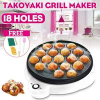 Professional 18 Hole Takoyaki Grill Pan Electric DIY Home Octopus Meat Ball Maker Plate Set Baking Machine Household