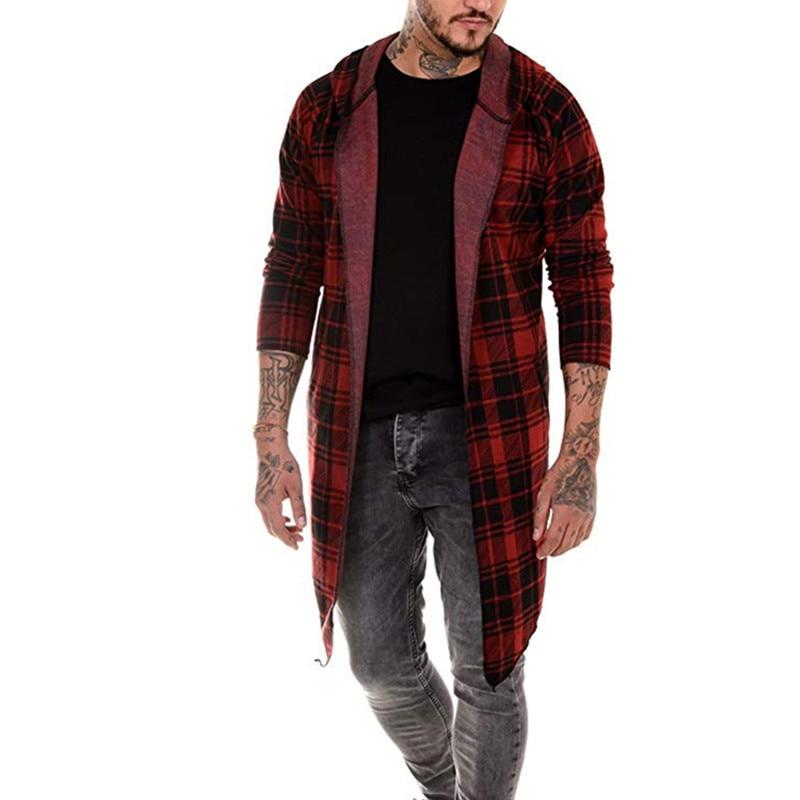 MJARTORIA New Men s Hippop fashion new 2019 printed hoodie cape casual digital print large plaid Innrech Market.com