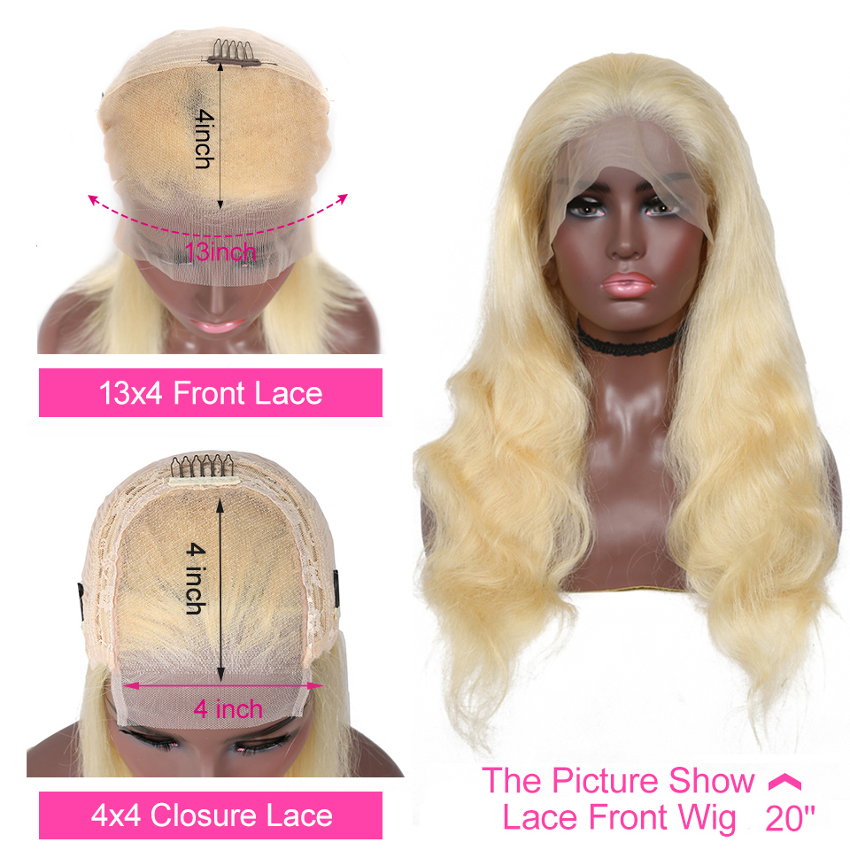 YYong613 Blond Lace Front  Wig  613 Body Wave Lace Closure Wig Pre Pluckeded Hairline  Can Be Colored 2