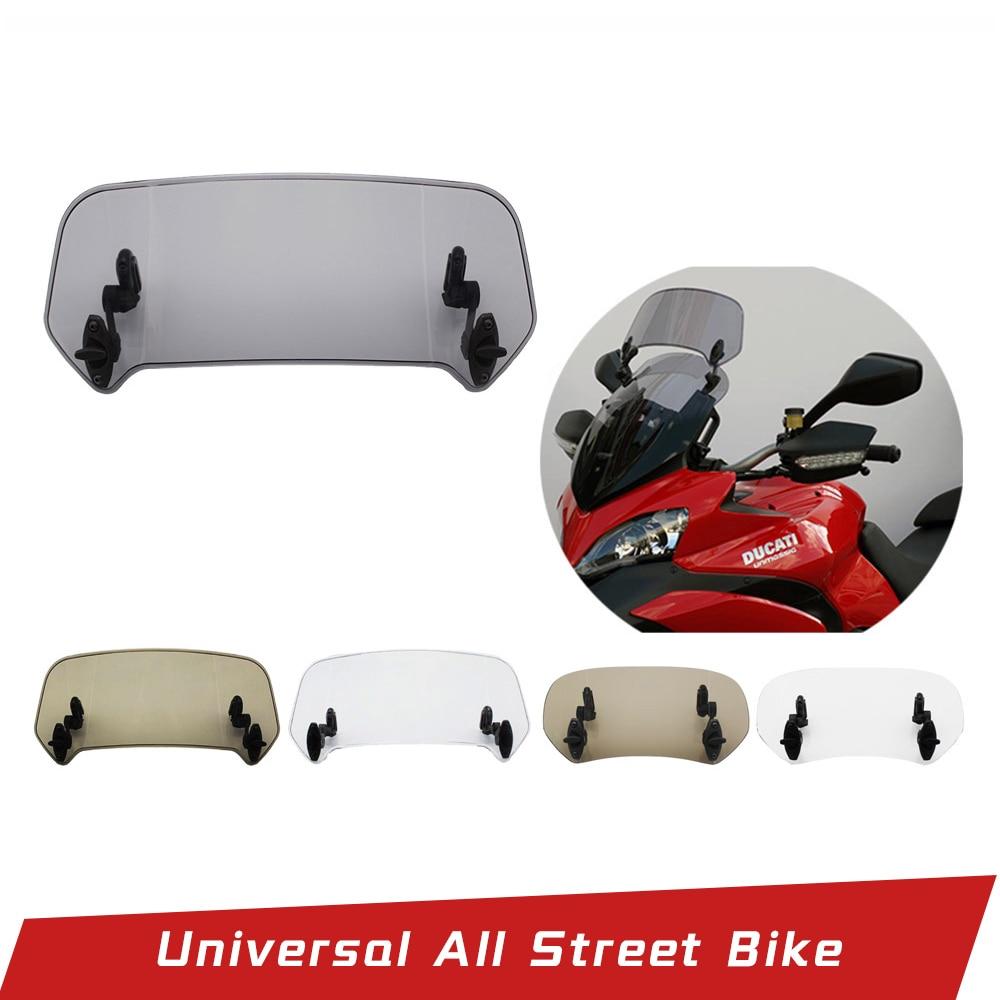 Universal Motorcycle Risen Adjustable Wind Screen Extension Windshield Spoiler Air Deflector For BMW KAWASAKI YAMAHA HONDA SUZUK